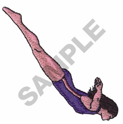 DIVER embroidery design