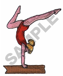 BALANCE BEAM GYMNAST embroidery design