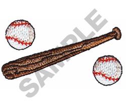 BASEBALLS & BAT embroidery design