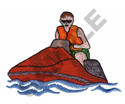 JET SKIING embroidery design