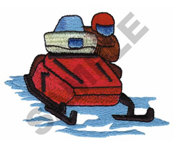 SNOWMOBILING embroidery design