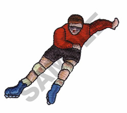 ROLLERSKATE embroidery design
