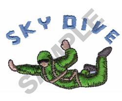 SKY DIVE embroidery design