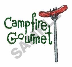 CAMPFIRE GOURMET embroidery design