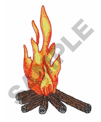 FIRE BURNING embroidery design