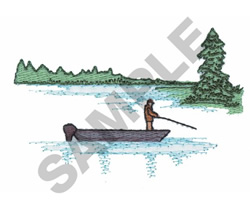 MAN IN A BOAT embroidery design