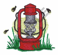 LAMP AND BEES embroidery design