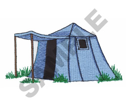 TENT embroidery design