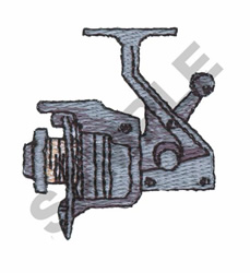 Fishing Reel embroidery design