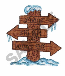 SKI DIRECTIONS embroidery design