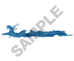 WAVES embroidery design