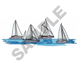 SAILBOATS embroidery design