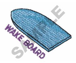 WAKE BOARD embroidery design
