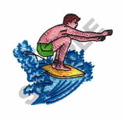 SURFING embroidery design