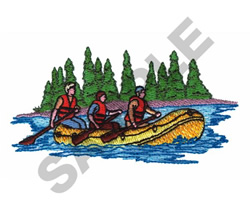RIVER RAFTING embroidery design
