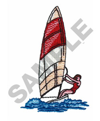 WIND SURFING embroidery design