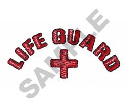 LIFE GUARD embroidery design