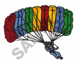 SKY DIVING embroidery design