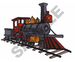 TRAIN embroidery design