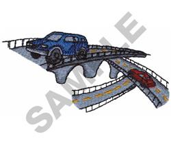 BRIDGES AND AUTOMOBILES embroidery design