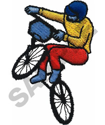 BMX RACER embroidery design