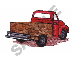 VINTAGE TRUCK embroidery design
