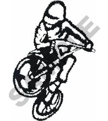 BMX RACER OUTLINE embroidery design
