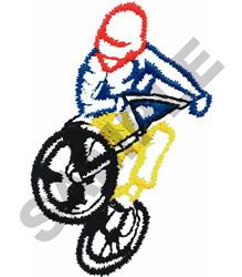 BMX RACER embroidery design