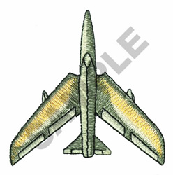 JET AIRPLANE embroidery design