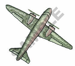 PROP PLANE embroidery design