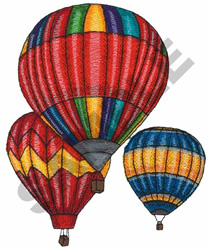 HOT AIR BALLONS embroidery design