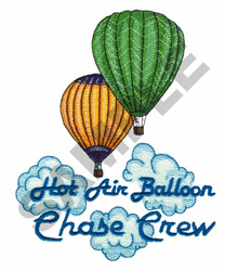 HOT AIR BALLOON CHASE CREW embroidery design