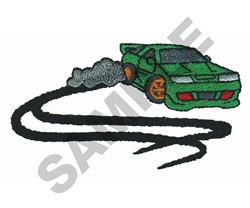 HOT WHEELS RUBBER PATCH embroidery design