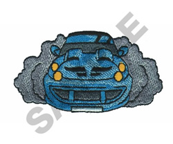 BURN RUBBER embroidery design