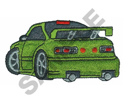 HOT WHEELS GREEN embroidery design