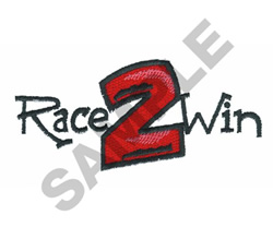 RACE 2 WIN embroidery design