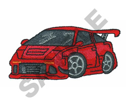 HOT WHEELS RED embroidery design