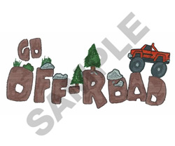 GO OFF ROAD embroidery design