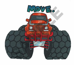 MONSTER TRUCK - MOVE embroidery design