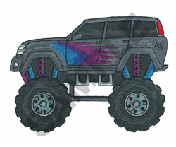 MONSTER SUV embroidery design