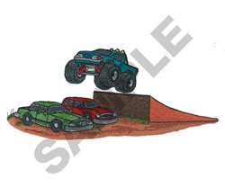 MONSTER TRUCK JUMP embroidery design