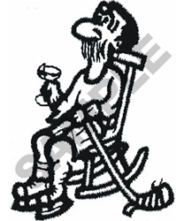 OLD HOCKEY  PLAYER embroidery design