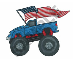 MONSTER TRUCK PATRIOT embroidery design