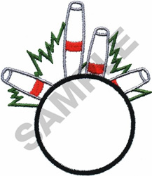 BOWLING OUTLINE embroidery design