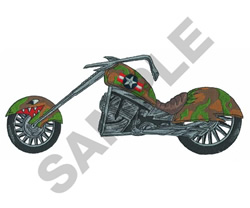 ARMY CHOPPER embroidery design