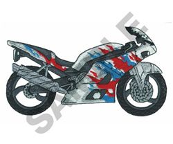 STREET BIKE embroidery design