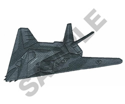 F-117 STEALTH embroidery design