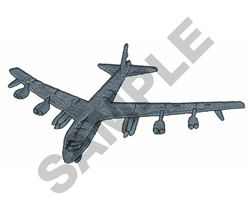 B-52 BOMBER embroidery design