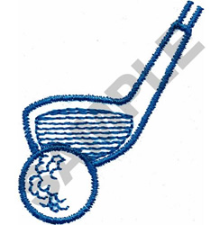 GOLF CLUB & BALL embroidery design
