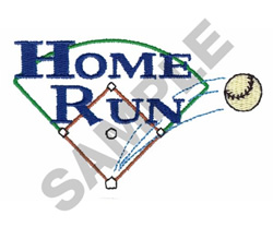 HOME RUN SIGN embroidery design